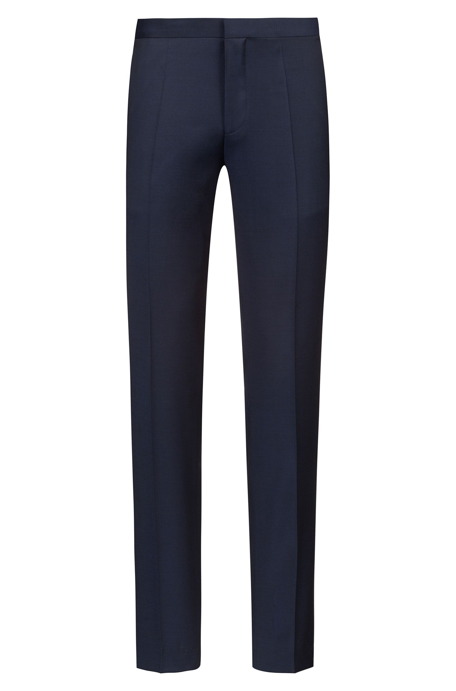 Extra Slim-Fit Hose aus Schurwoll-Twill aus der Bits&Bytes Capsule, Dunkelblau