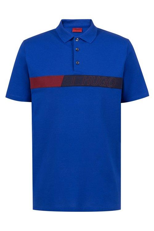Hugo Boss - Poloshirt aus Stretch-Baumwolle mit Logo-Grafik - 1