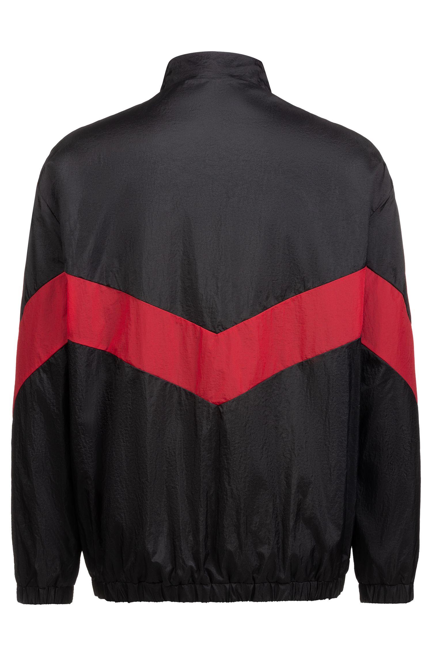 Relaxed-Fit Sweatshirt in Knitter-Optik mit Reißverschluss, Schwarz