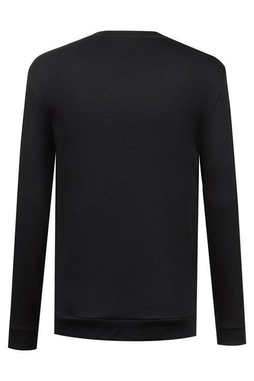 Hugo Boss - Sweatshirt aus Interlock-Baumwolle mit spiegelverkehrtem Logo - 4