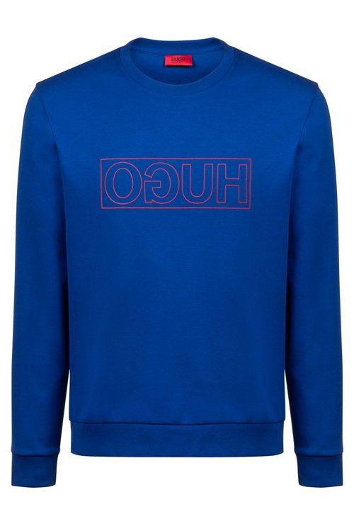 Hugo Boss - Sweatshirt aus Interlock-Baumwolle mit spiegelverkehrtem Logo - 1
