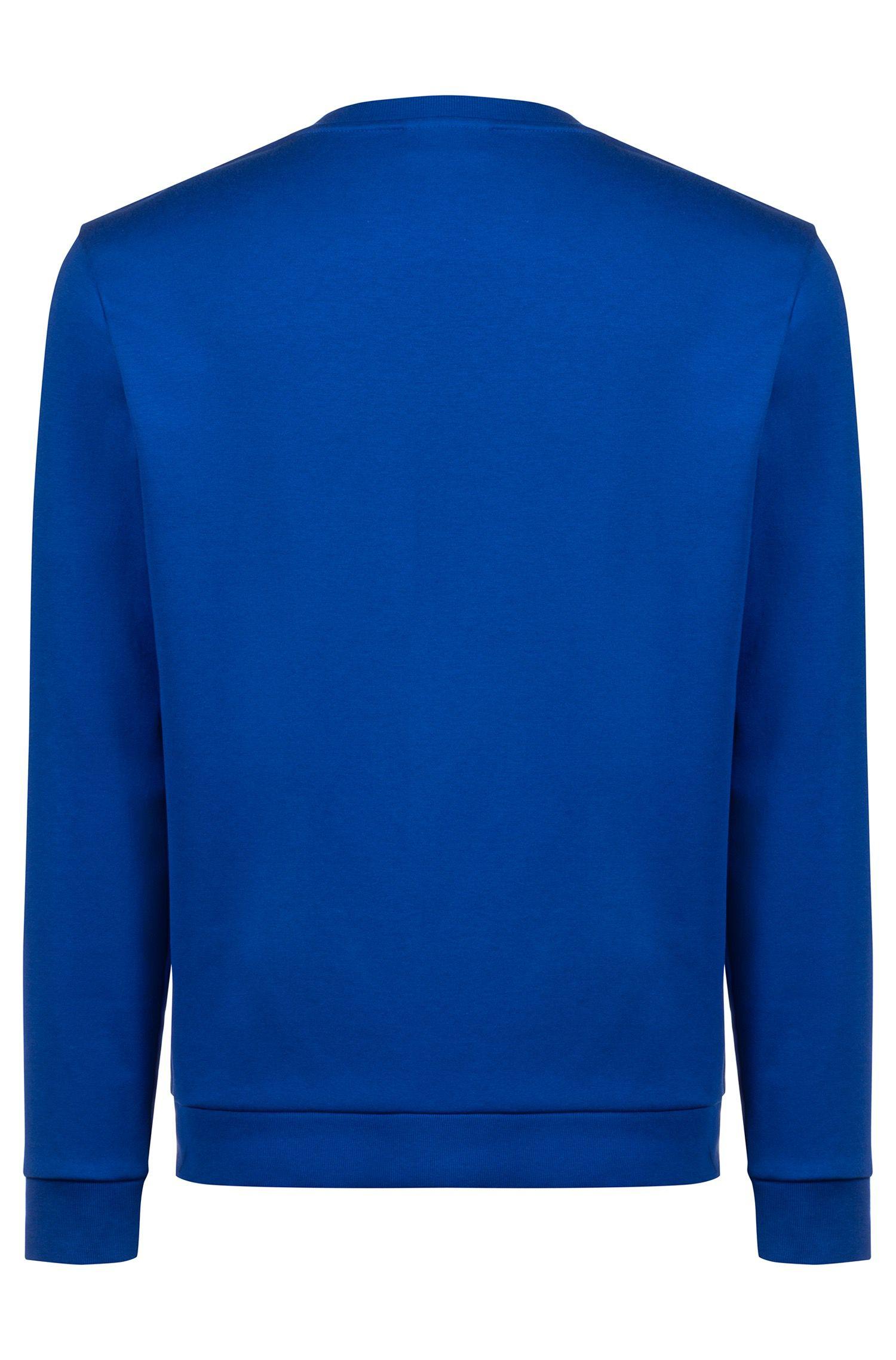 Sudadera con logo invertido en algodón interlock, Azul