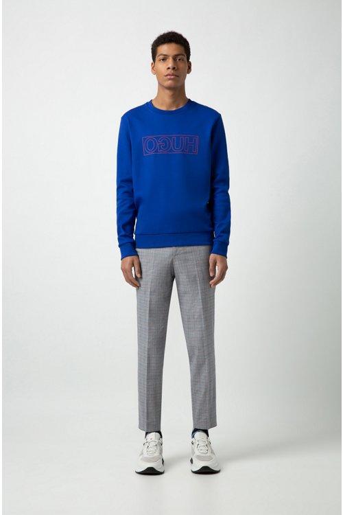 Hugo Boss - Sweatshirt aus Interlock-Baumwolle mit spiegelverkehrtem Logo - 2