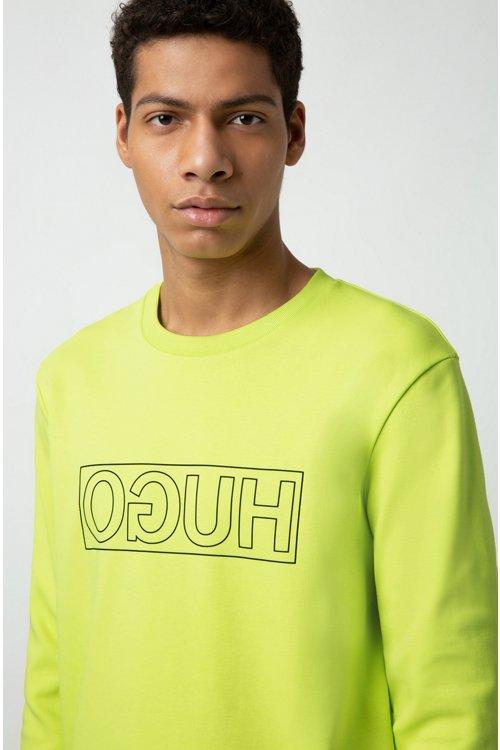 Hugo Boss - Sweatshirt aus Interlock-Baumwolle mit spiegelverkehrtem Logo - 3