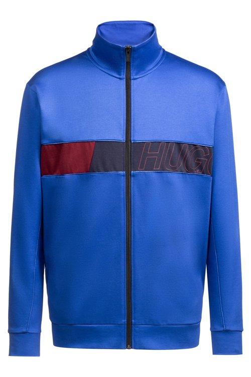 Hugo Boss - Sweatjacke mit Reißverschluss und Colour-Block-Logo - 1