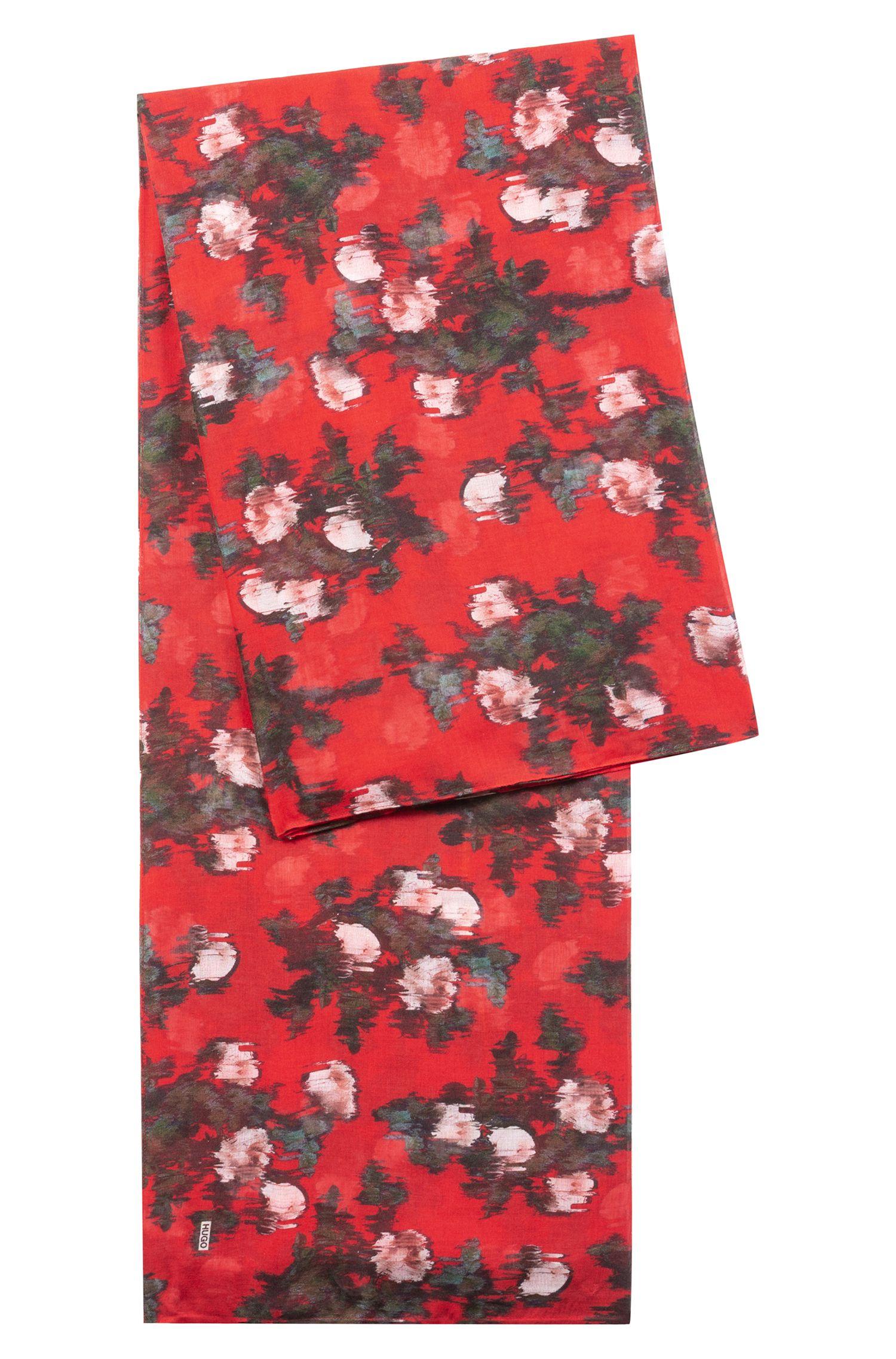 Quadratischer Schal aus Modal mit abstraktem Blumenmuster, Gemustert
