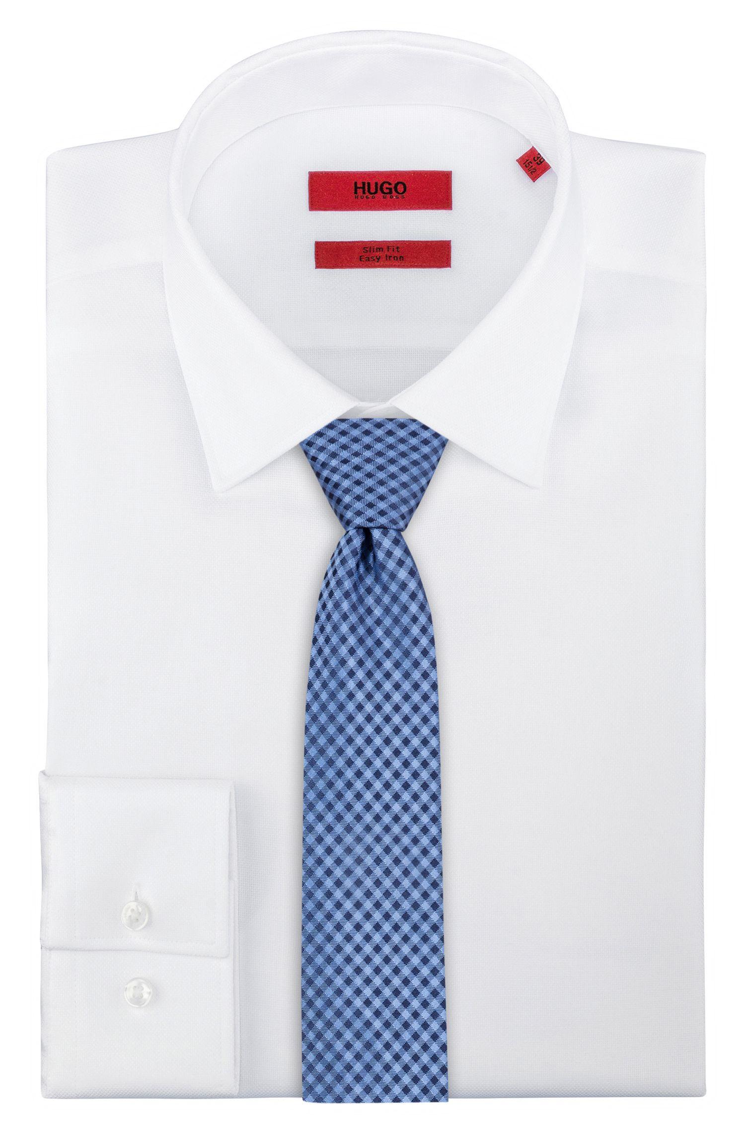 Cravate en jacquard de pure soie, à motif vichy, Fantaisie