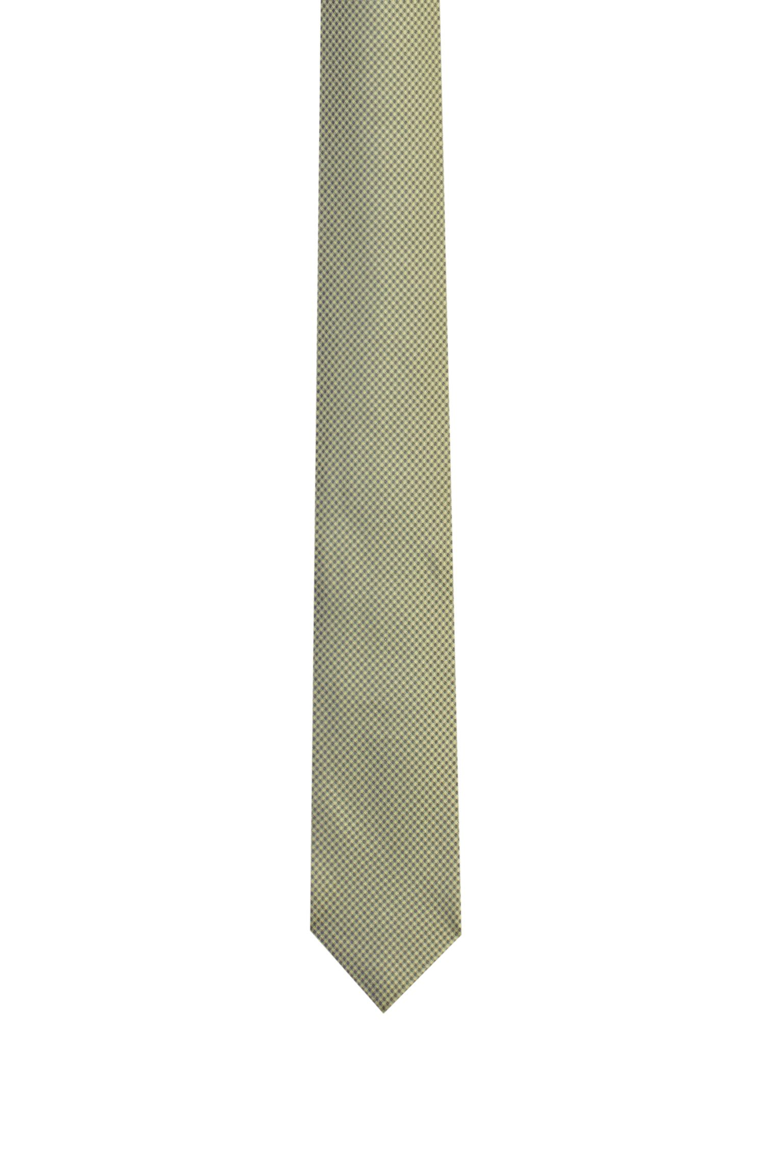 Micro-pattern tie in silk jacquard, Patterned