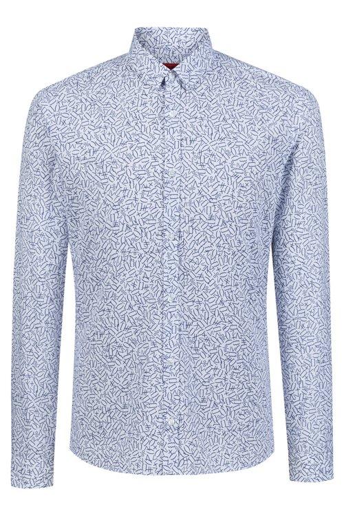 Hugo Boss - Camisa extra slim fit de algodón con estampado matemático - 1