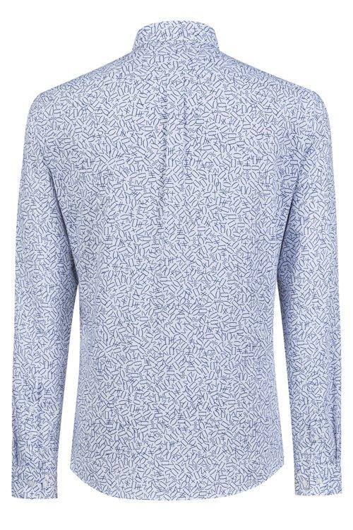 Hugo Boss - Camisa extra slim fit de algodón con estampado matemático - 4