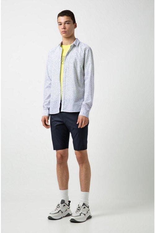 Hugo Boss - Camisa extra slim fit de algodón con estampado matemático - 2