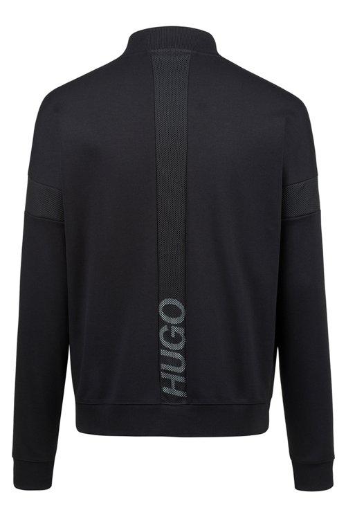 Hugo Boss - Sweatjacke aus Baumwolle mit Mesh-Bahnen - 4