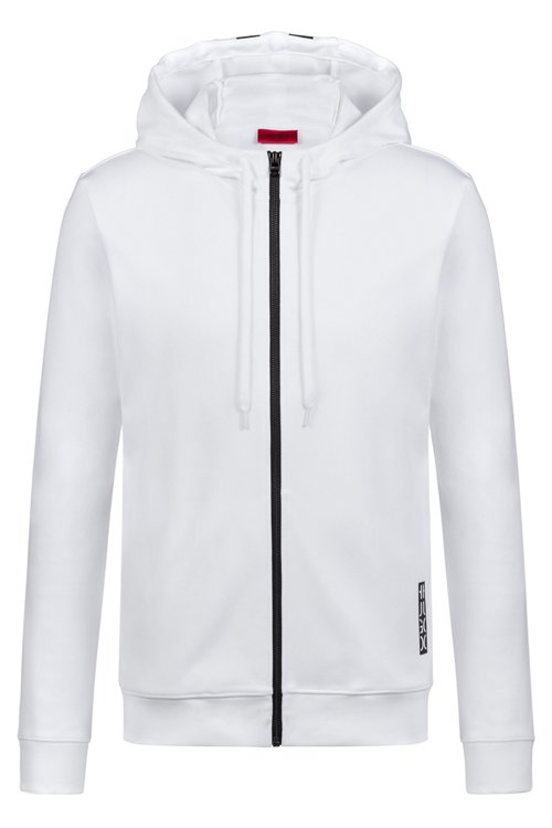 Hugo Boss - Hooded sweatshirt in cotton with large-scale cropped logo - 1