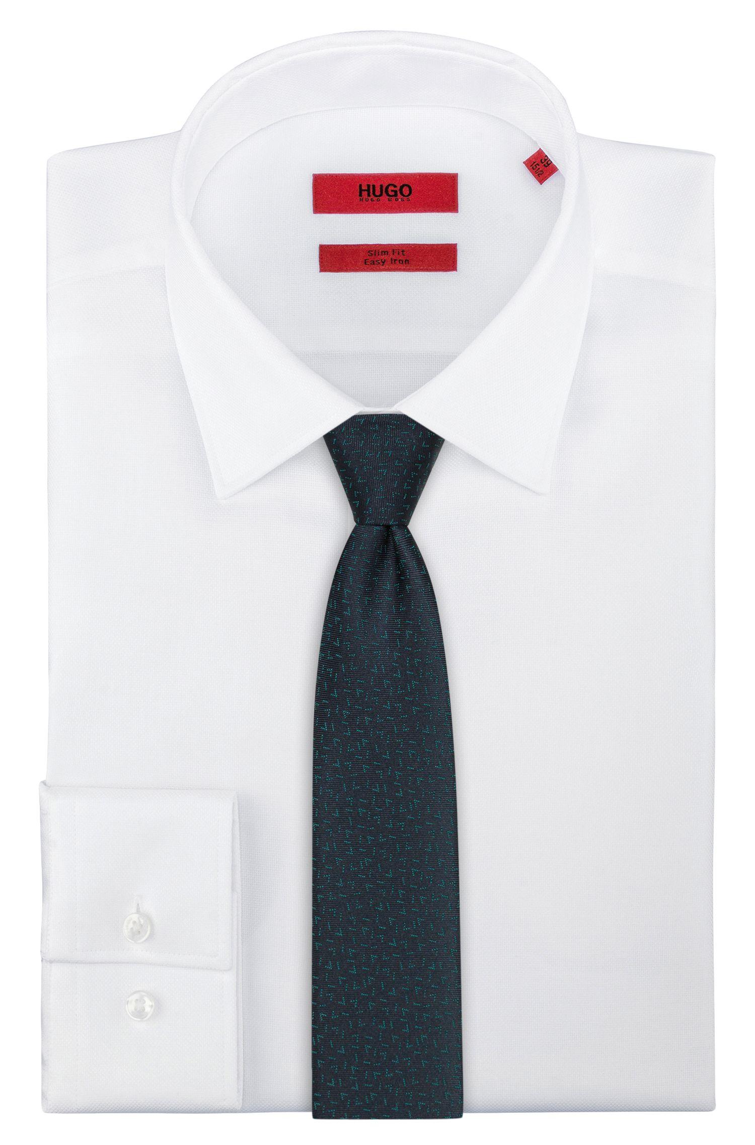 Krawatte aus reinem Seiden-Jacquard, Gemustert
