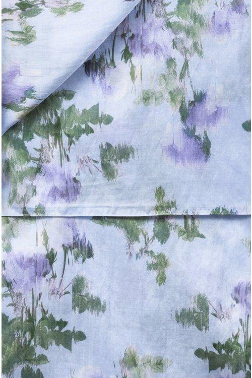 Hugo Boss - Schal aus Baumwoll-Seiden-Mix mit verschwommenem Blumenmuster - 3