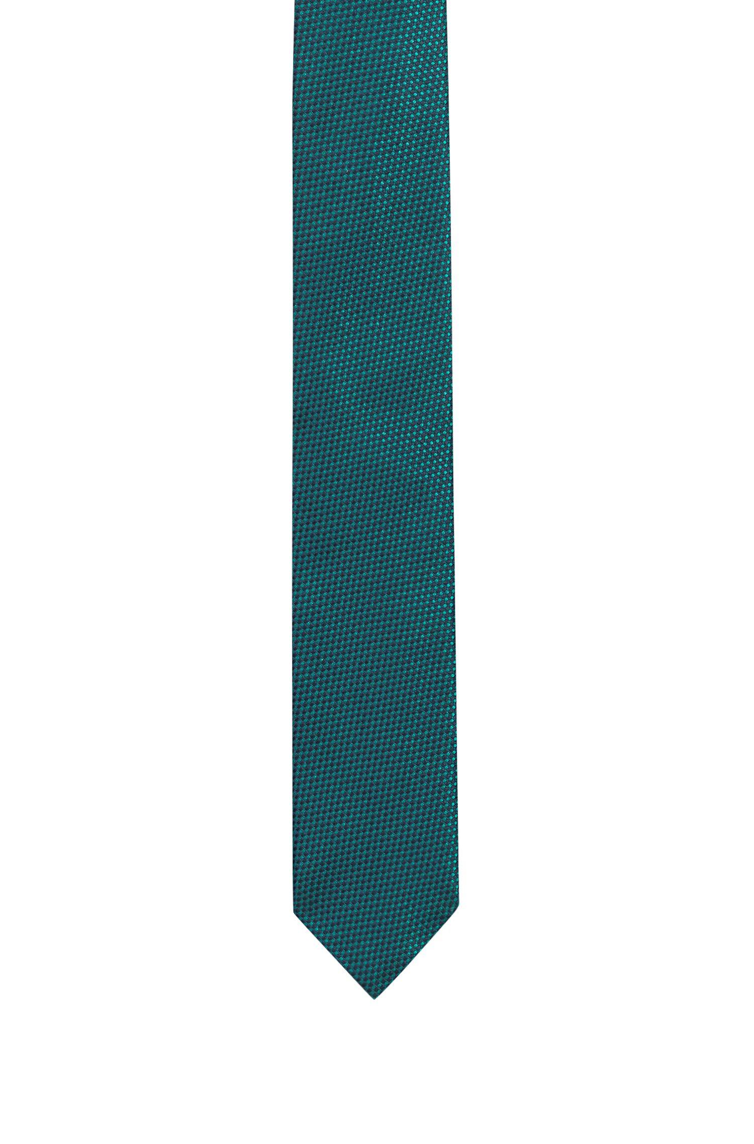 Zakelijke stropdas in een jacquard van zuivere zijde, Bedrukt