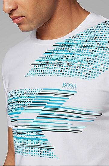 男士直筒棉质休闲短袖T恤,  100_白色