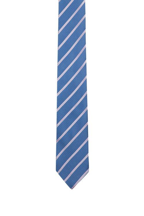 Hugo Boss - Corbata en jacquard de seda con rayas diagonales - 1