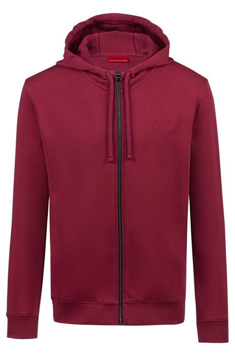 e07d3478 HUGO - Zip-through hoodie in French terry with reverse logo