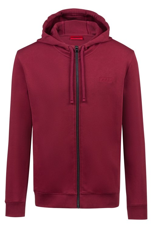 Hugo Boss - Zip-through hoodie in French terry with reverse logo - 1