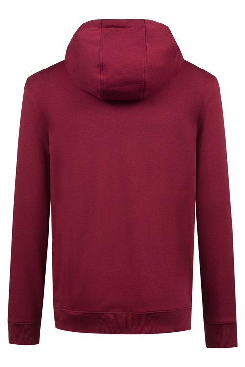 Hugo Boss - Zip-through hoodie in French terry with reverse logo - 4