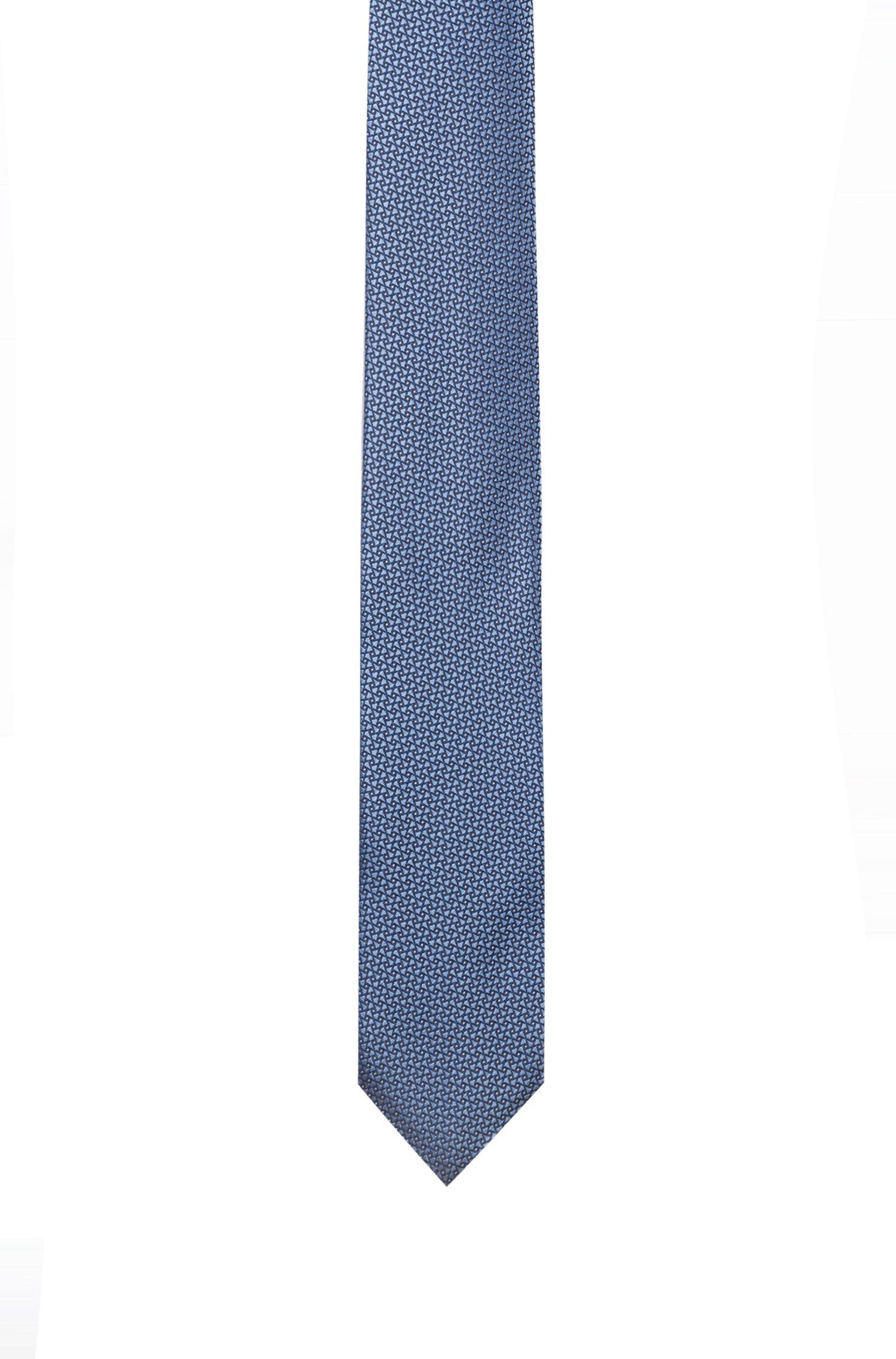 Cravatta in pura seta jacquard con microdisegni, A disegni