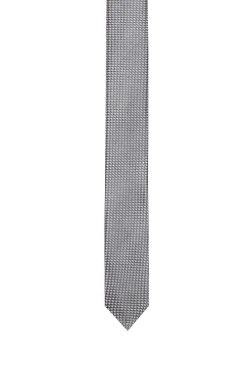 Hugo Boss - Micro-pattern tie in silk jacquard - 1