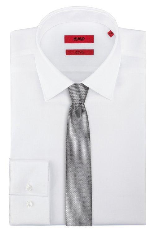 Hugo Boss - Micro-pattern tie in silk jacquard - 2