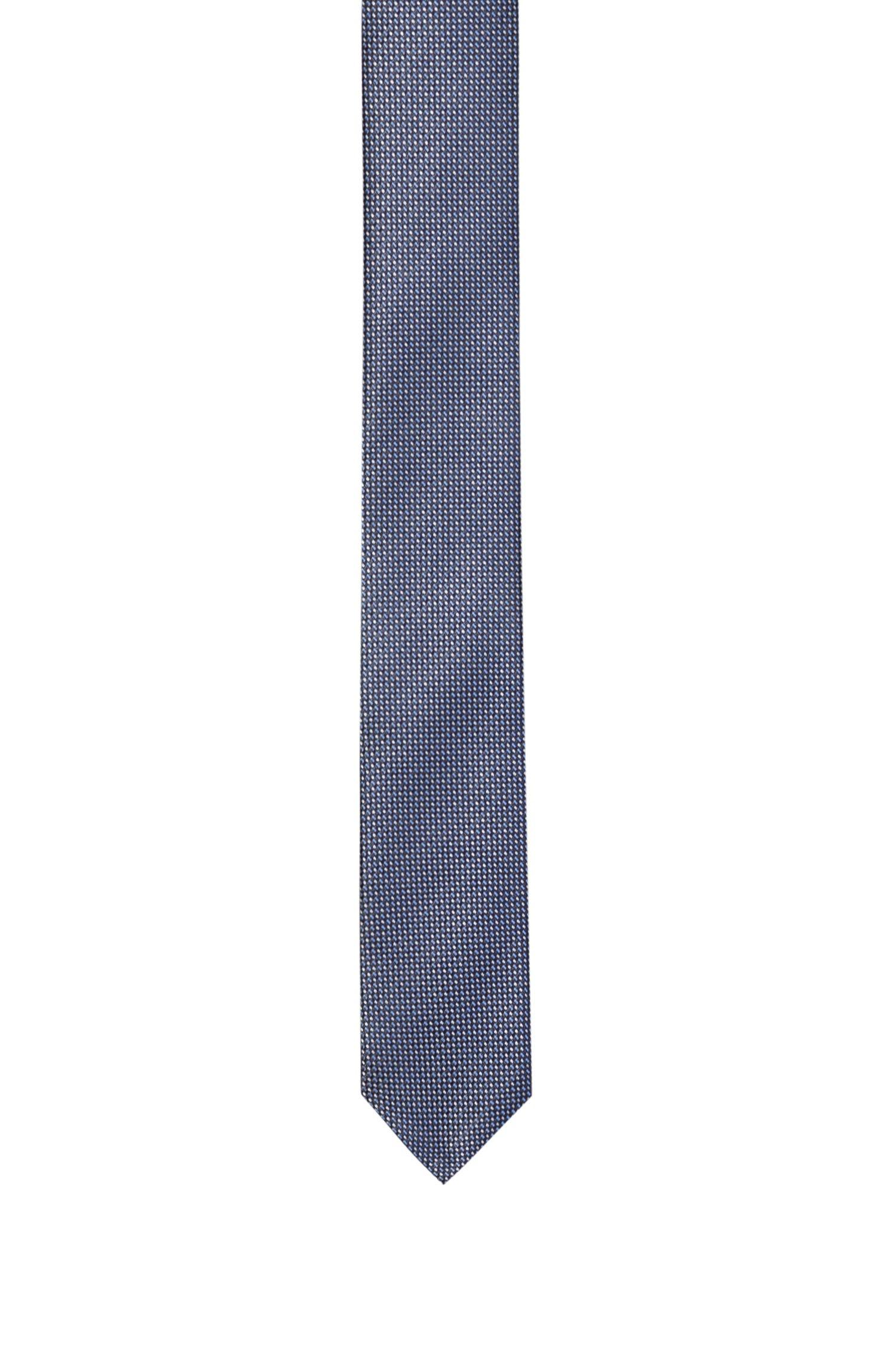 Cravatta in seta jacquard con microdisegno, A disegni