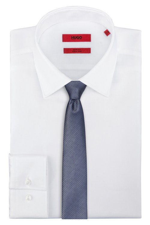 Hugo Boss - Dezent gemusterte Krawatte aus Seiden-Jacquard - 2