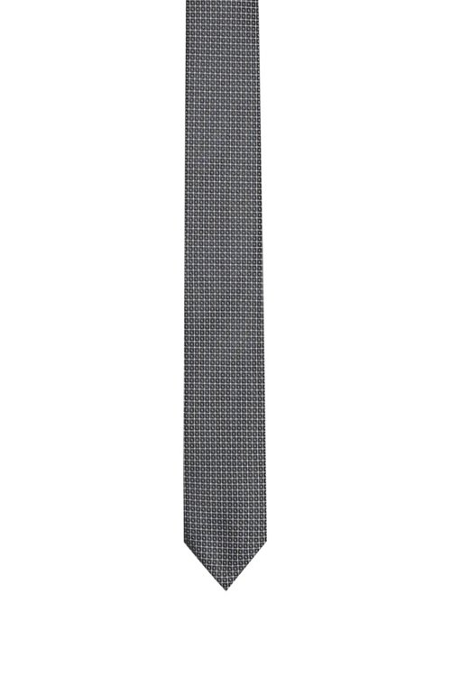 Hugo Boss - Gerade geschnittene Krawatte aus gemustertem Seiden-Jacquard - 1