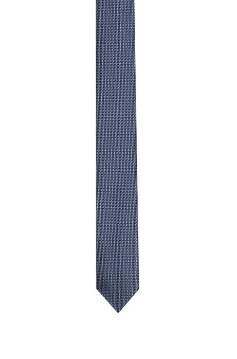 Corbata de seda recta con microestampado, Fantasía