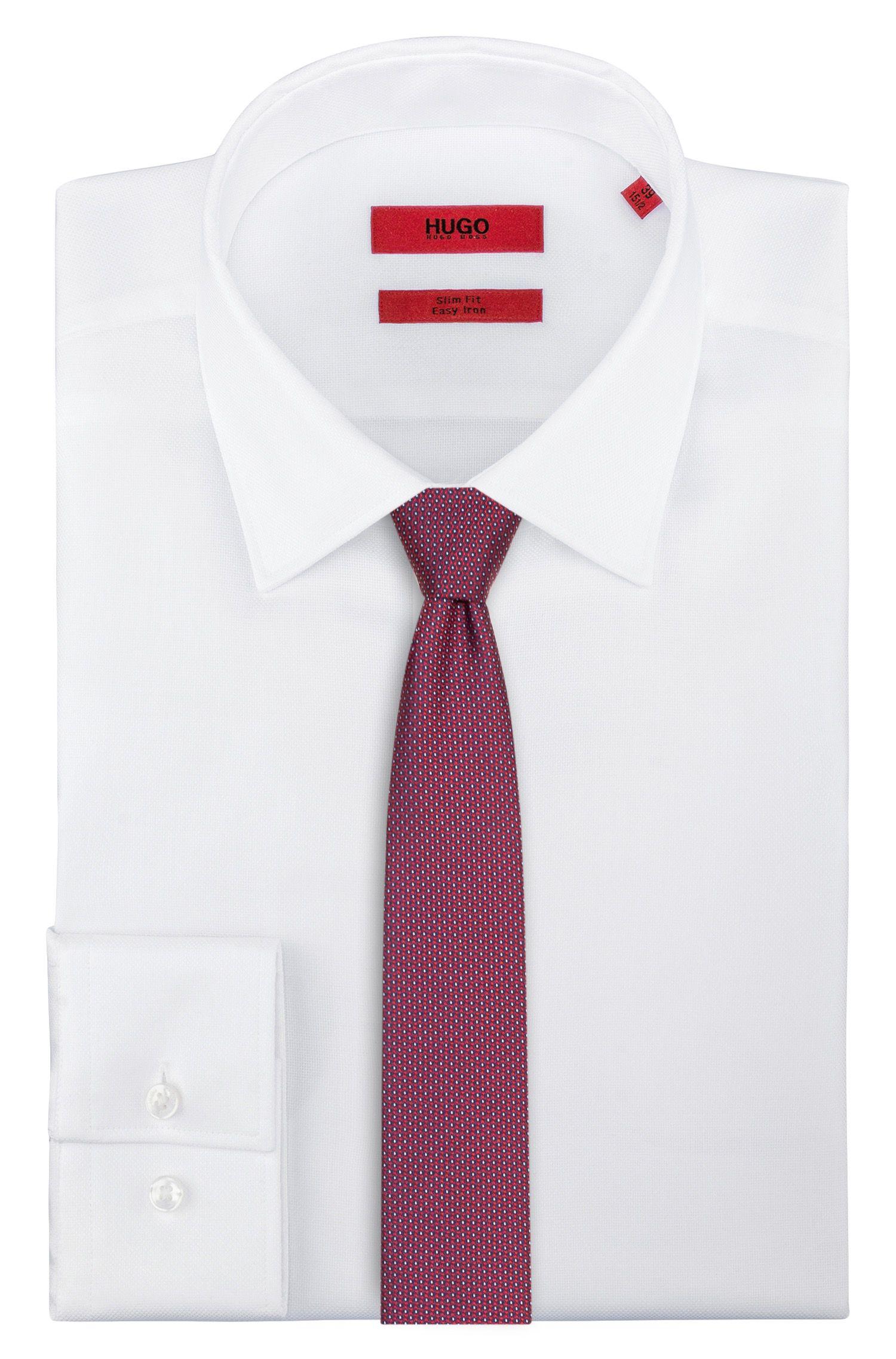 Hugo Boss - Gerade geschnittene Krawatte aus Seide mit dezentem Muster - 2
