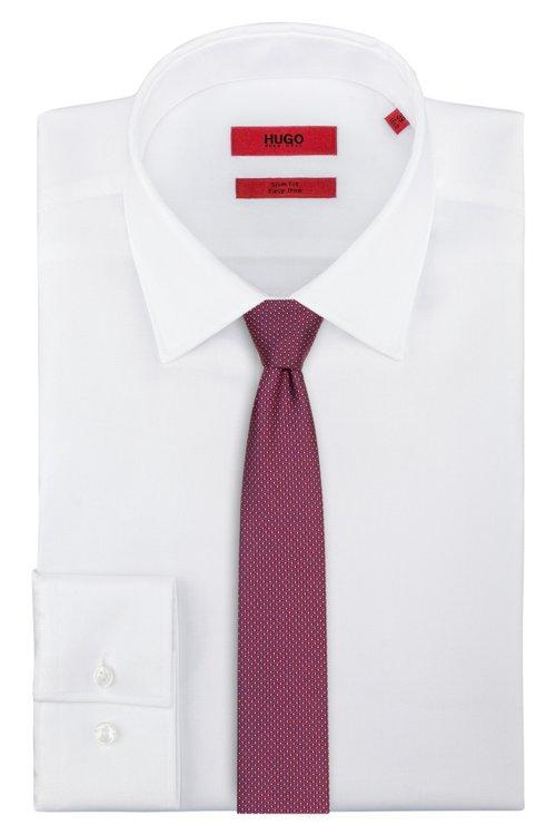 Hugo Boss - Straight silk tie with a micro pattern - 2