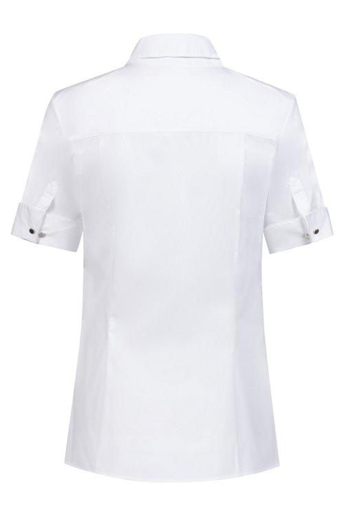 Hugo Boss - Slim-Fit Kurzarm-Bluse mit geknöpften Manschetten - 4