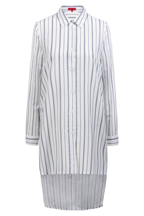 Hugo Boss - Longline striped blouse with stepped back hem - 1