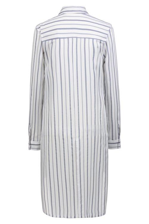 Hugo Boss - Longline striped blouse with stepped back hem - 4