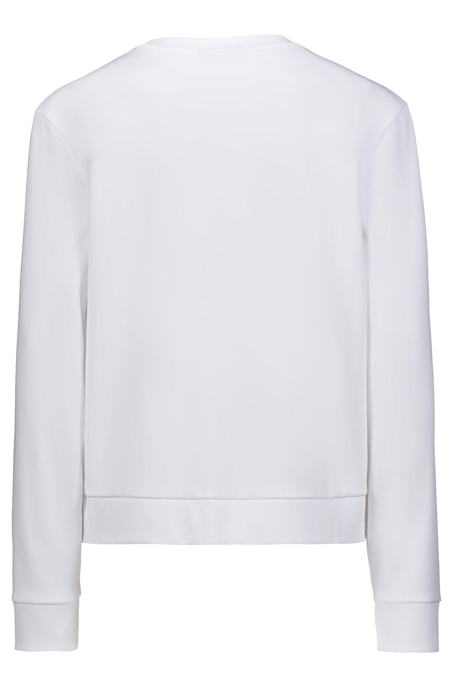 Relaxed-Fit Sweatshirt aus Baumwolle mit Logo der neuen Saison, Weiß
