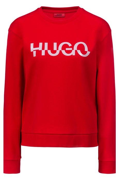 Relaxed-Fit Sweatshirt aus Baumwolle mit Logo der neuen Saison, Hellrosa