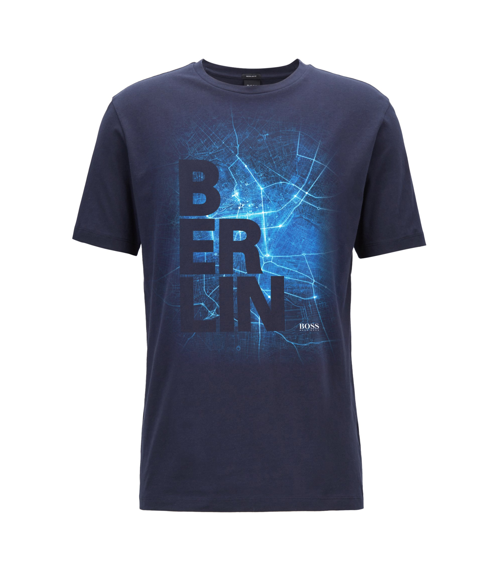 Limited edition Formula E T-shirt with Berlin city print, Dark Blue