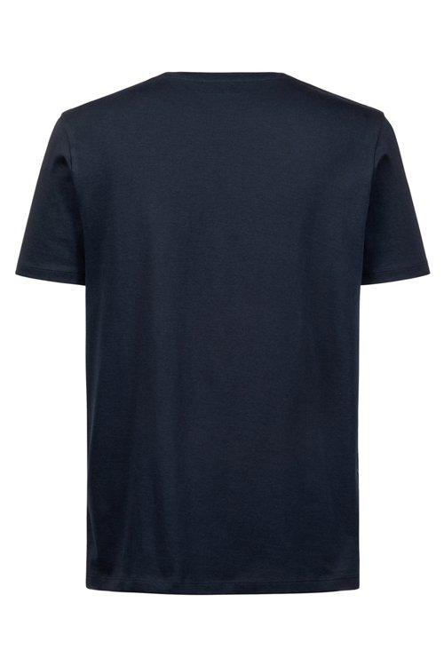 Hugo Boss - T-Shirt aus Baumwoll-Jersey mit Rundhalsausschnitt und Logo - 4