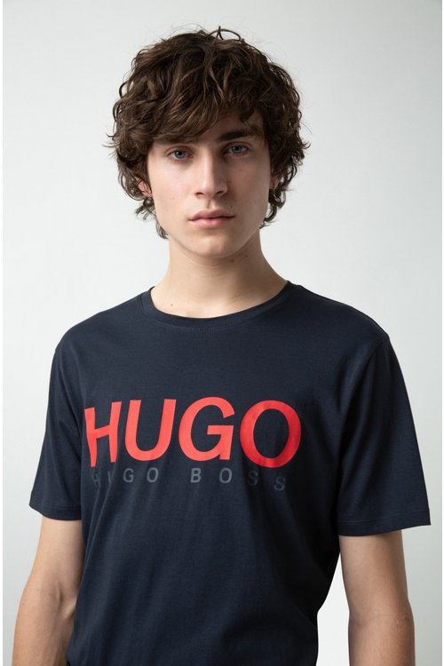 Hugo Boss - T-Shirt aus Baumwoll-Jersey mit Rundhalsausschnitt und Logo - 3