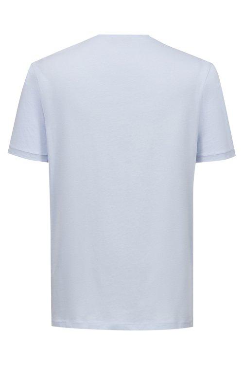 Hugo Boss - Camiseta de cuello redondo en punto de algodón con logo - 4