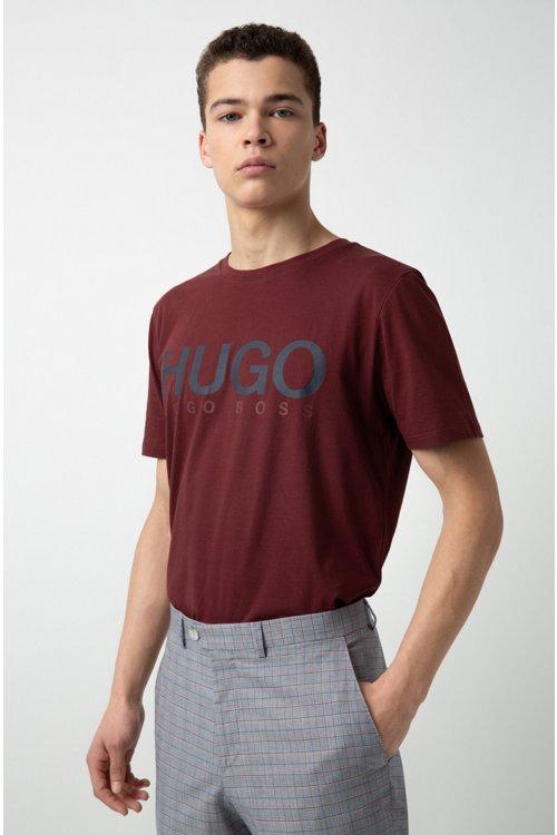 Hugo Boss - Camiseta de cuello redondo en punto de algodón con logo - 2