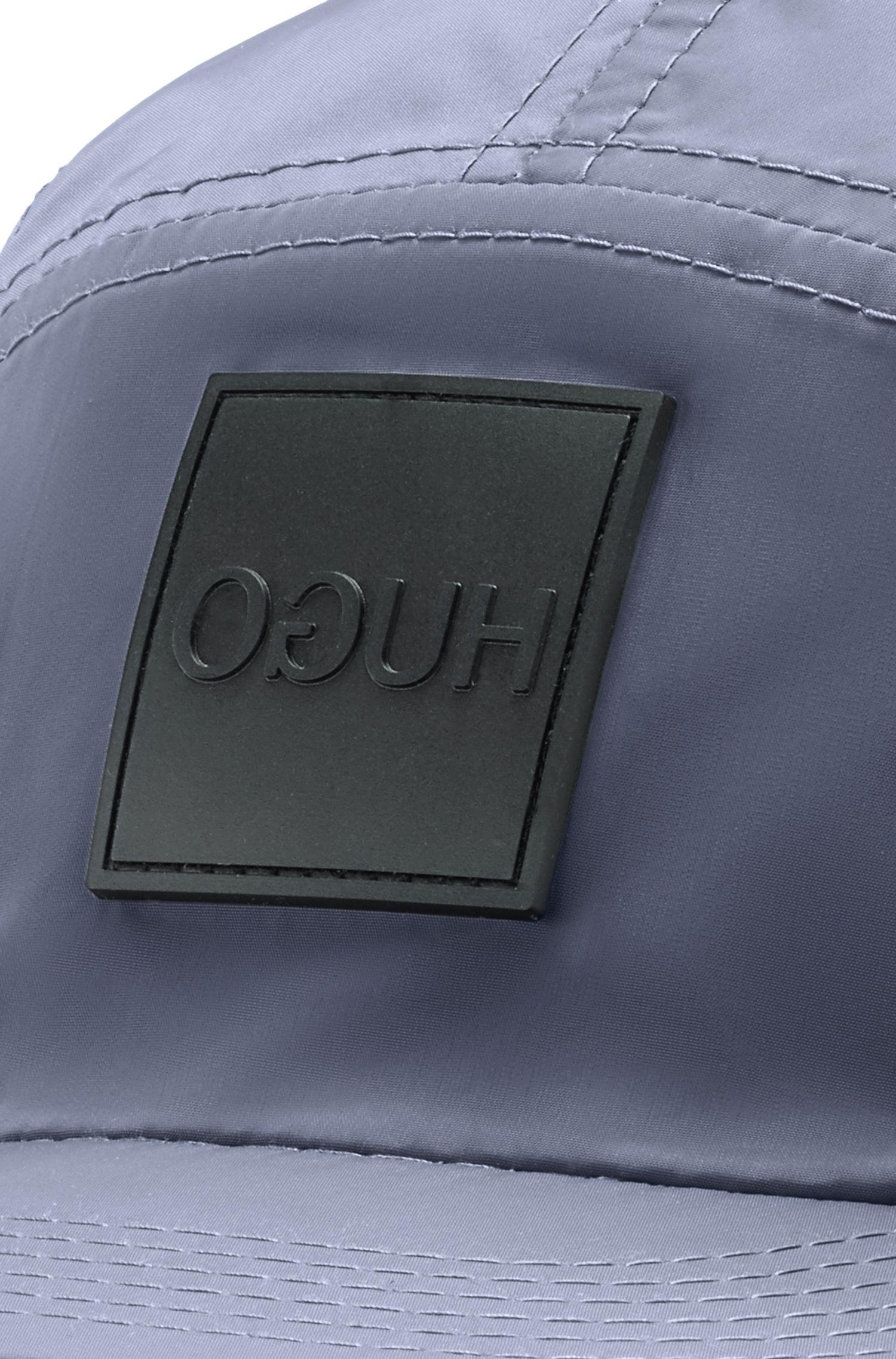Casquette légère en tissu technique, à logo inversé, Gris sombre