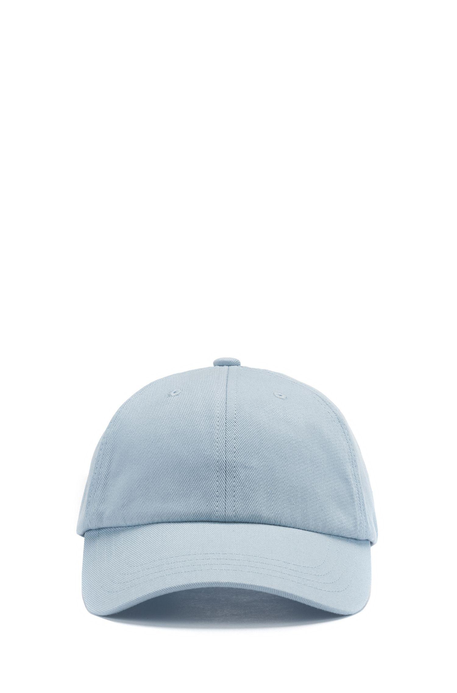 Verstellbare Cap aus Baumwoll-Twill mit gesticktem Reversed-Logo, Hellblau