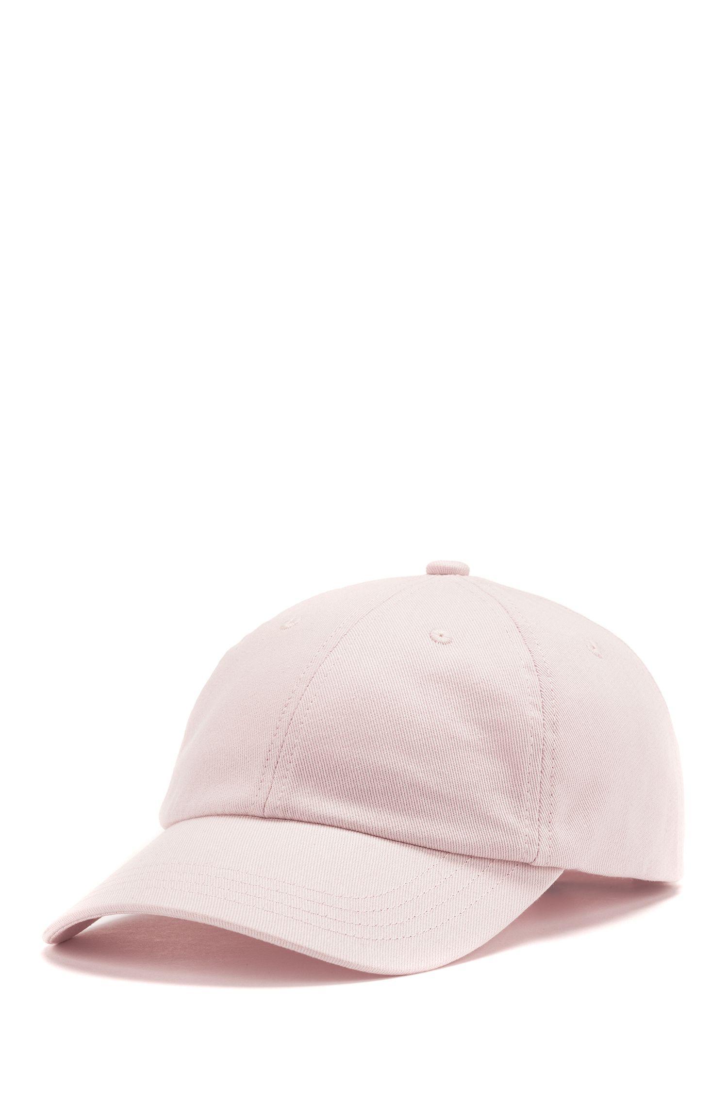 Verstellbare Cap aus Baumwoll-Twill mit gesticktem Reversed-Logo, Hellrosa