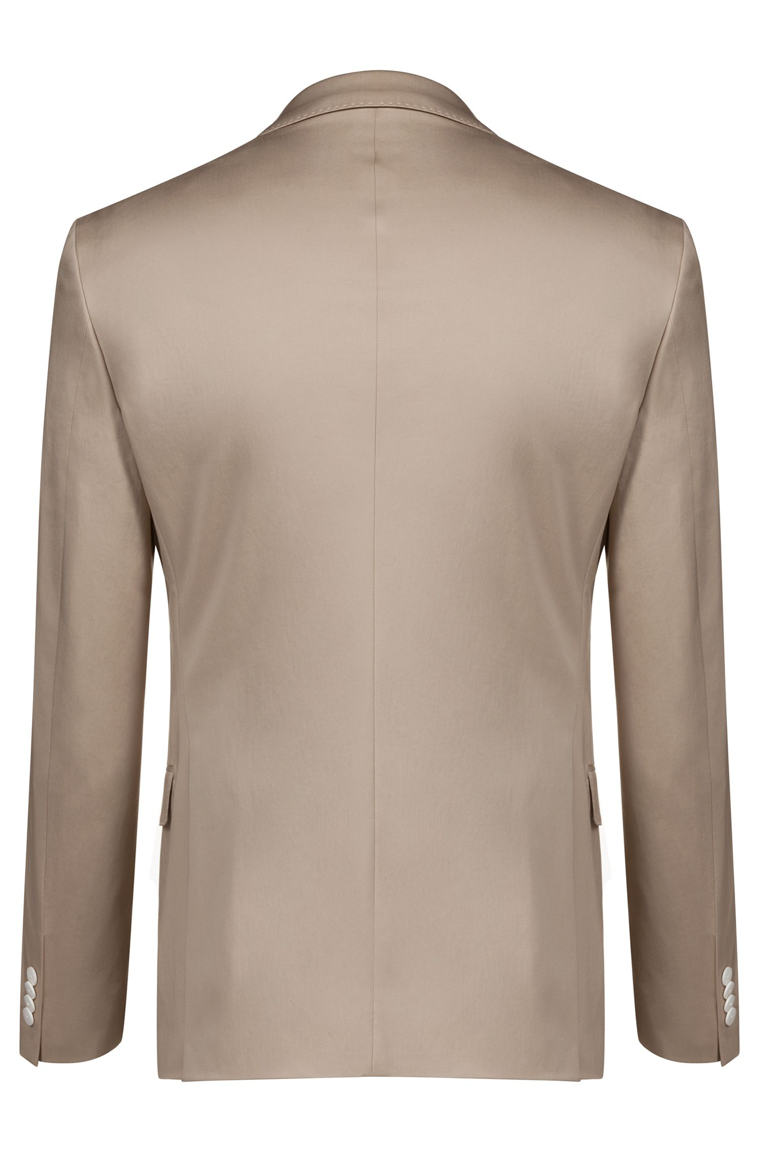 Costume Extra Slim Fit en coton stretch à la finition satinée, Beige