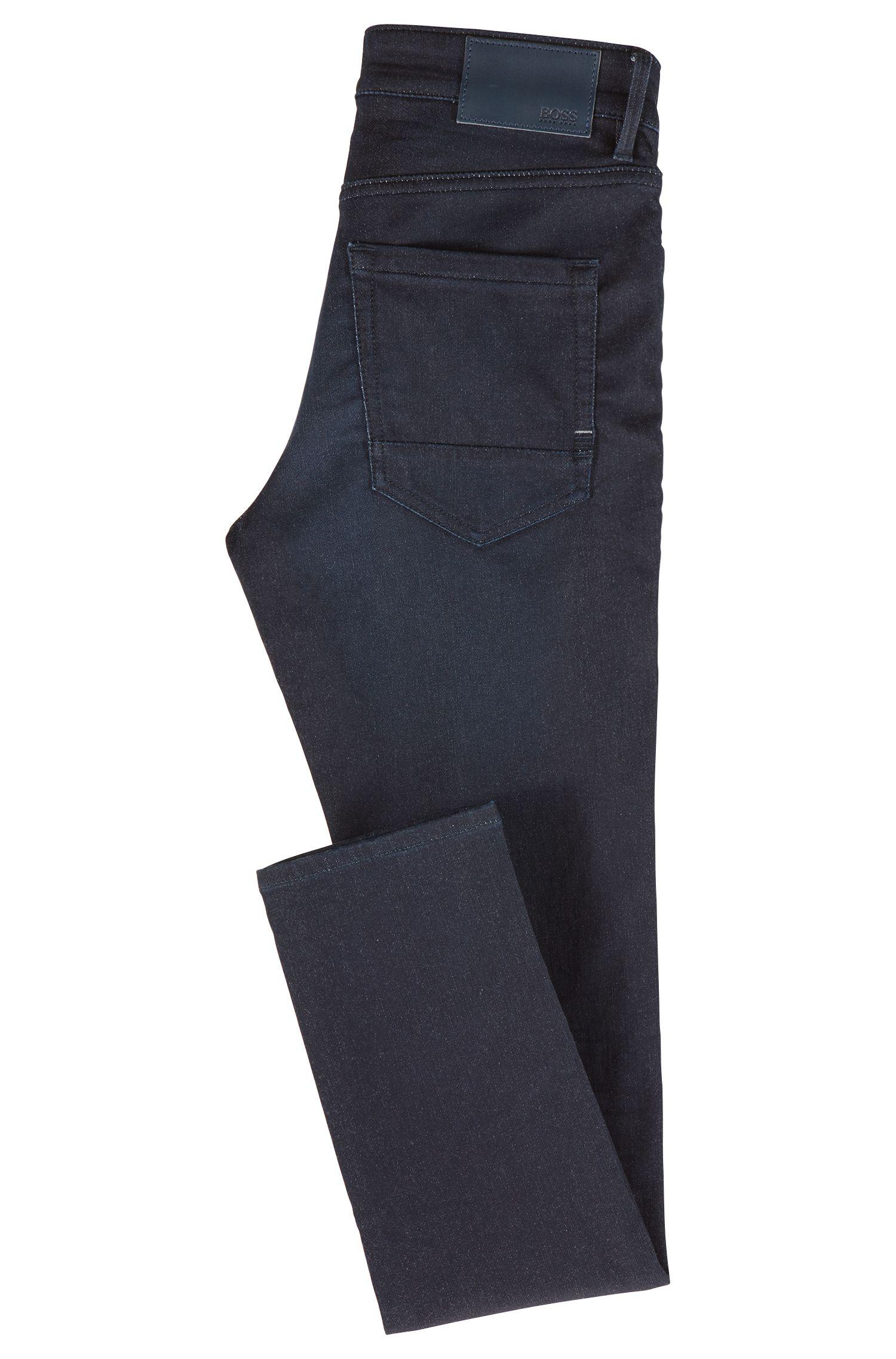 Vaqueros skinny fit en punto de mezcla de algodón elástico, Azul oscuro