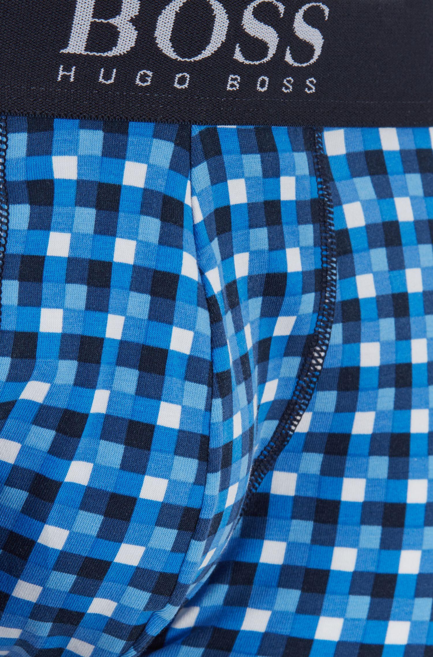 Boxershorts aus Stretch-Baumwolle mit Grafik-Print, Dunkelblau